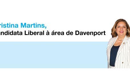 Cristina Martins, candidata Liberal à área de Davenport