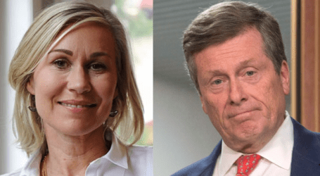 Keesmaat, Tory square off at first debate of election campaign