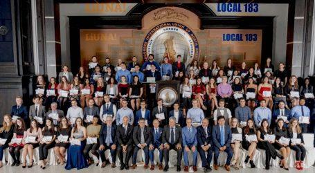 LiUNA Local 183 entrega 89 bolsas de estudo – no valor de $800,000