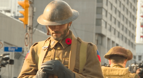 Toronto remembers 100 years since end of WWI with service at Old City Hall