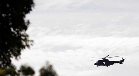 Helicóptero da polícia cai ao mar no Rio de Janeiro