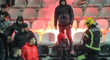 Adeptos do Benfica pegaram fogo na bancada após derrota com o Portimonense