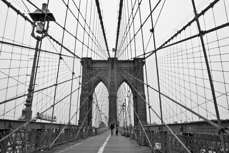 brooklyn bridge, new york, black and white, brige, new york city, reiseblogger, Brücke, Blog, Städtetrip