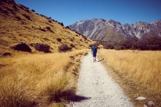 Tasman Lake Track, Tasman Lake, Mount Cook Nationalpark, nicht so schoen, heiss, viele Touristen, Neuseeland, New Zealand, Miles and Shores
