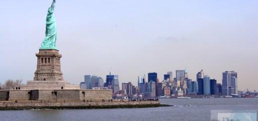 Freiheitsstatur und Lower Manhattan