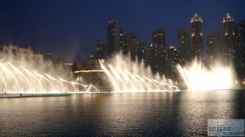 The Dubai Fountain bei Nacht