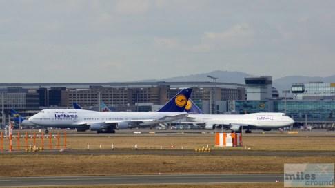 Lufthansa Boeing 747-400 - MSN 28287 - D-ABVT und MSN 26425 - D-ABVL