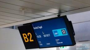 Boarding SK 1677 nach Berlin