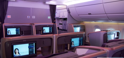 rear Business Class A350 Singapore Airlines (range 19-22)