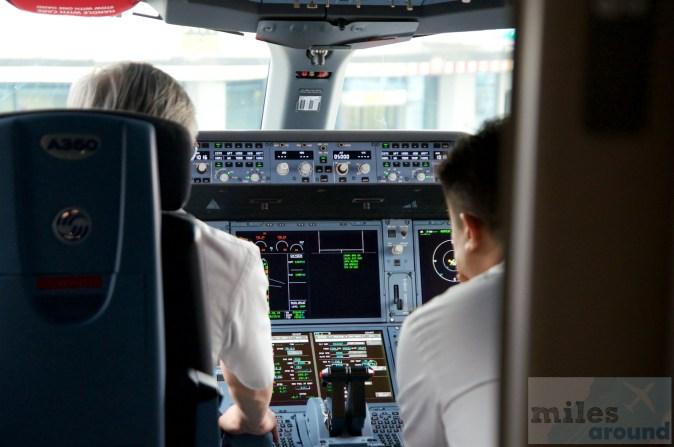 Blick ins Cockpit der A350