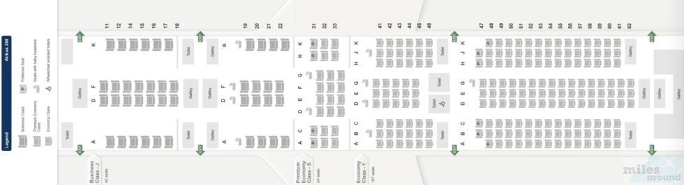 A350 Seatmap (Quelle: Singapore Airlines)