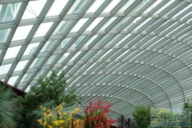 Glaskuppel des Flower Dome