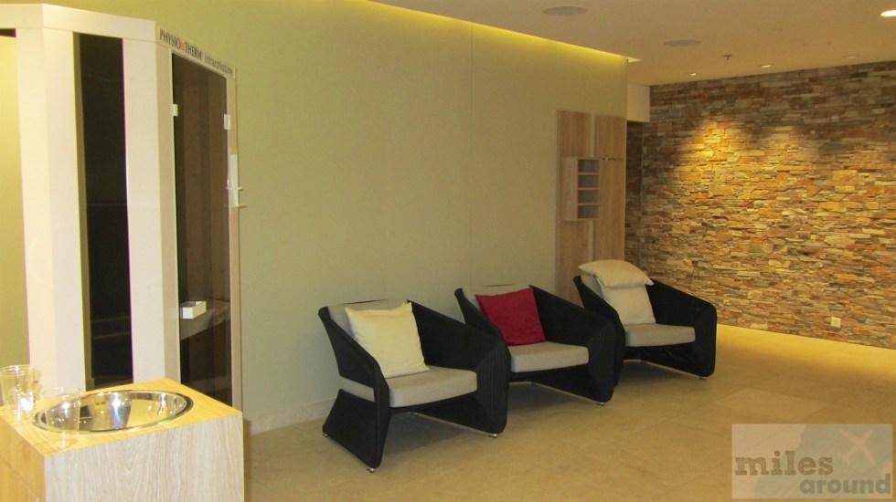 Aufenthaltsraum im Wellnessbereich des Hilton Garden Inn Davos