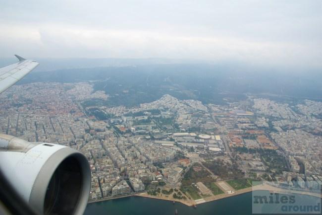 Anflug auf Thessaloniki