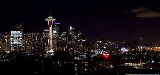 Seattle bei Nacht - View from Kerry Park