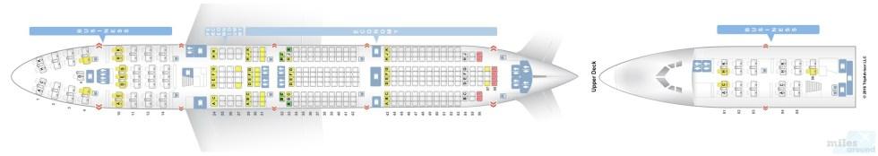 Sitzplan Lufthansa Boeing 747-400 (Quelle: seatguru.com)