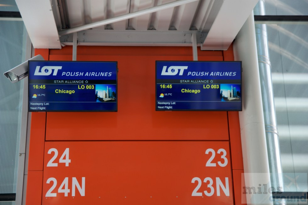 Departure gate to Chicago
