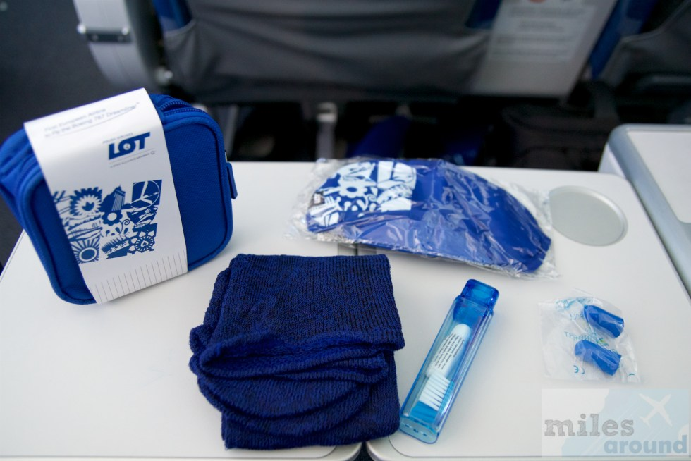 Amenity Kit in der LOT Premium Economy