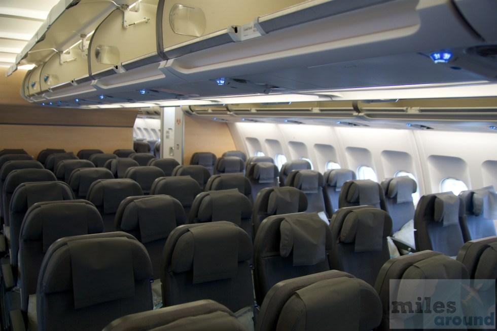 Kabine in der SAS Go im Airbus A340