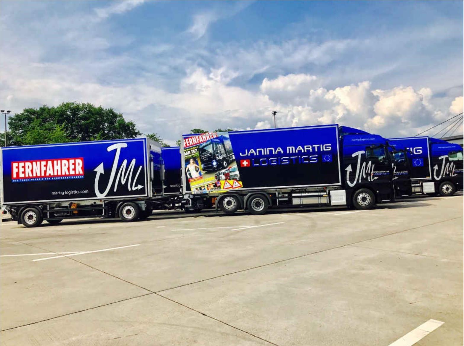 JML-Truck mit FERNFAHRER-Branding/Janina Martig Logistics