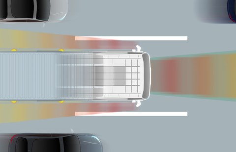 Konzept: Selbstfahrender LKW