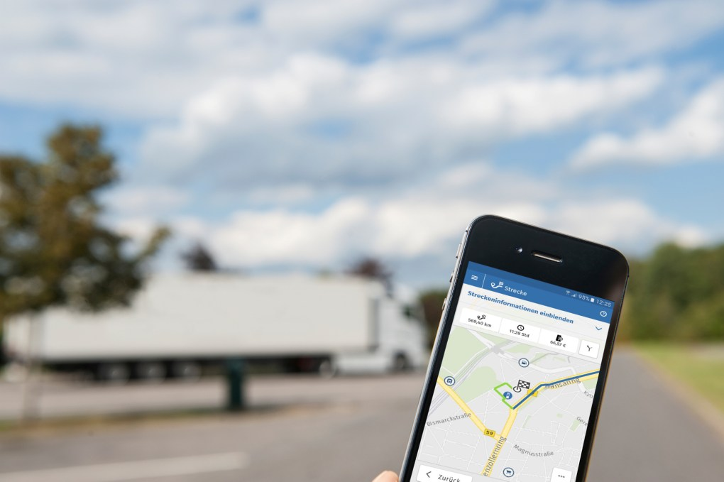 Streckenübersicht per Smartphone, ©Toll Collect GmbH