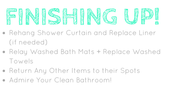 Finishing your Bathroom Spring Clean