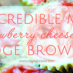 Incredible Mini Strawberry Cheesecake Fudge Brownies