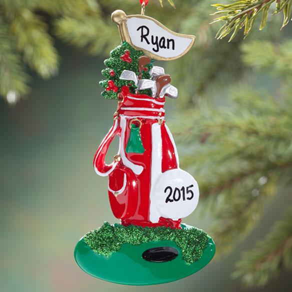 Personalized Golf Bag Ornament Christmas Ornament