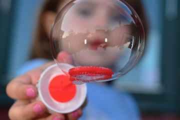 adorable blur bubble child