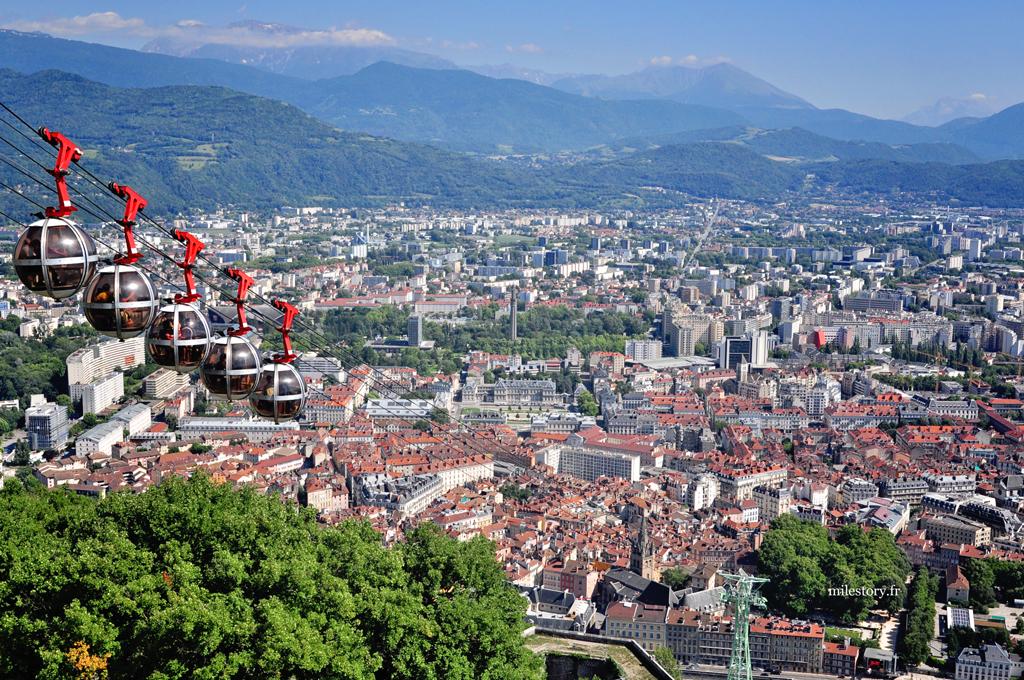 téléphérique de grenoble et vue panoramique