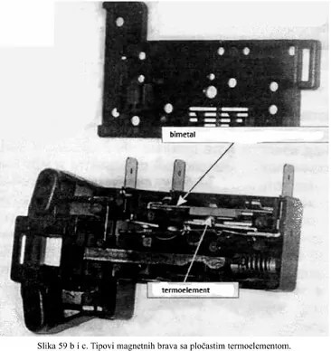 slika iz knjige: tipovi magnetnih brava sa plasticnim termoelementom - elektronski moduli veš mašina