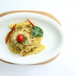 thai green curry spaggetti pasta medan