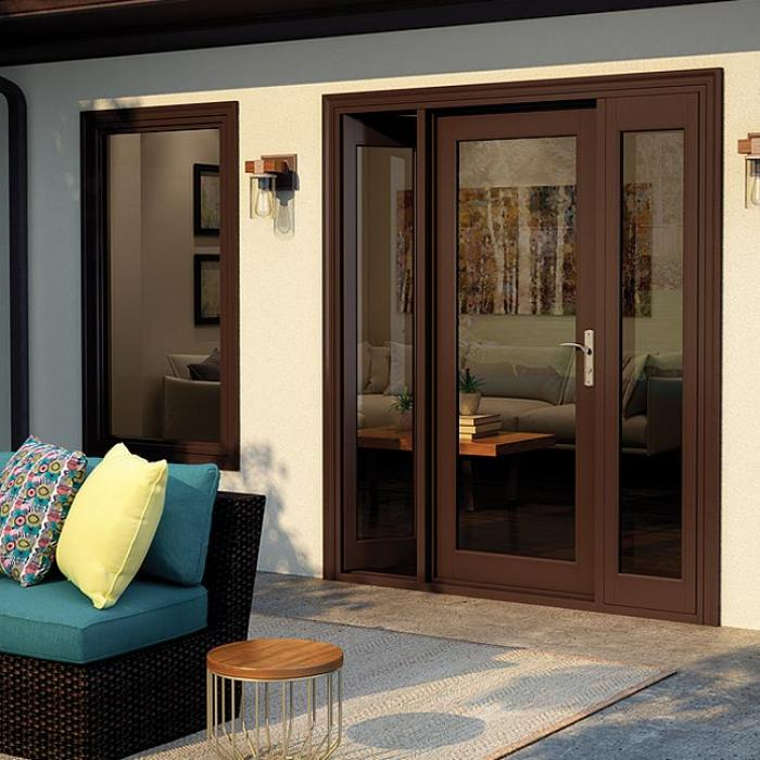 french out swing patio door wood