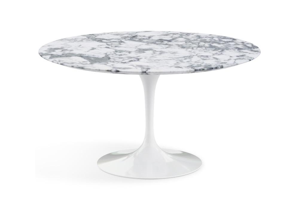 saarinen table basse ronde de marbre