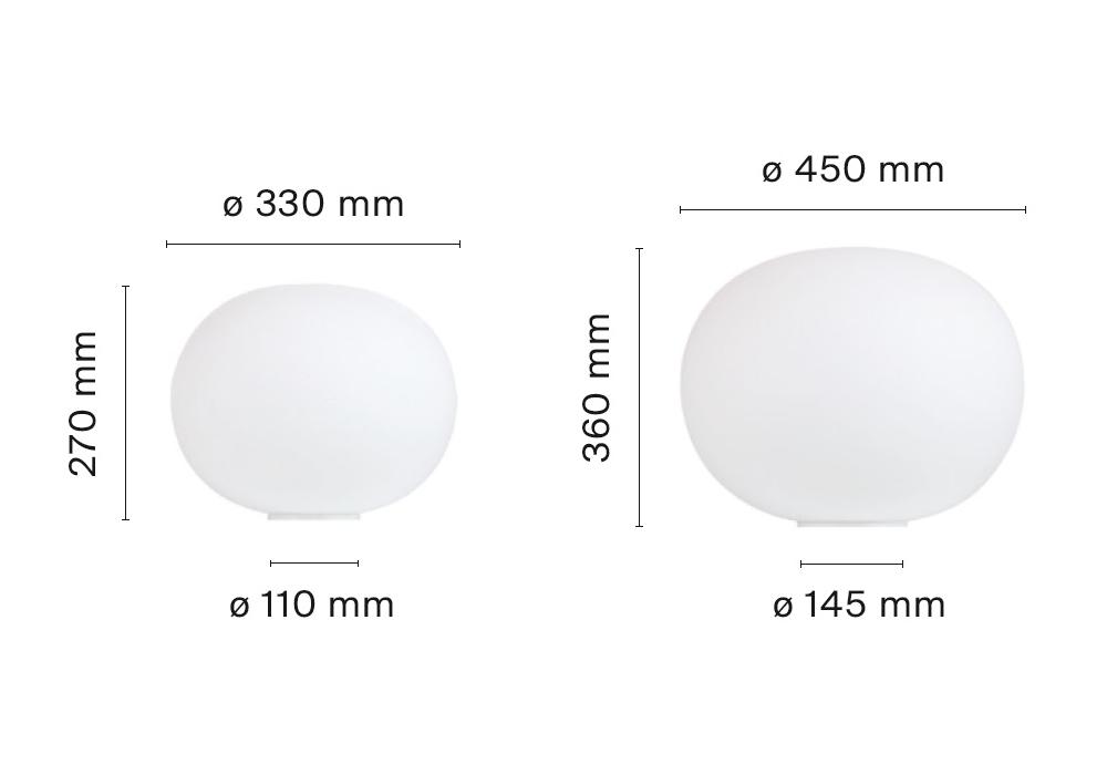 glo ball basic table lamp flos milia shop