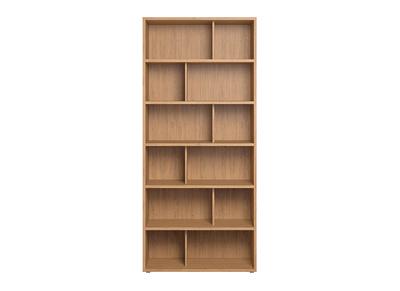 bibliotheque design bois clair epure