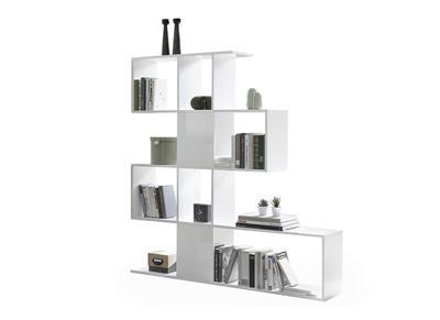 bibliotheque separateur design blanc laque h147 cm como