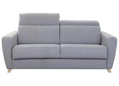 canape convertible 3 places avec tetieres ajustables gris goya