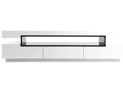meuble tv design laque blanc brillant livo