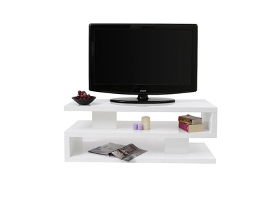 meuble tv design laque brillant blanc nexy