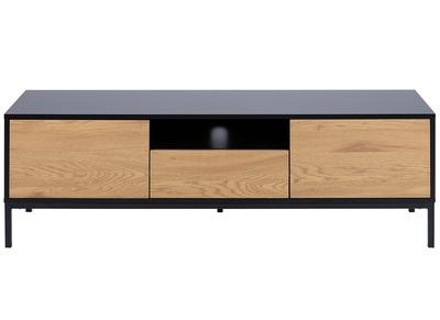 meuble tv industriel bois et metal l140 cm tresca
