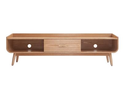 meuble tv scandinave frene 180 cm hallen