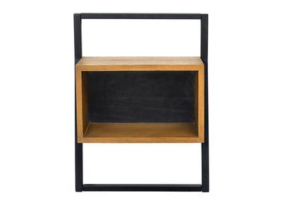 table de chevet vintage bois et metal noir serah