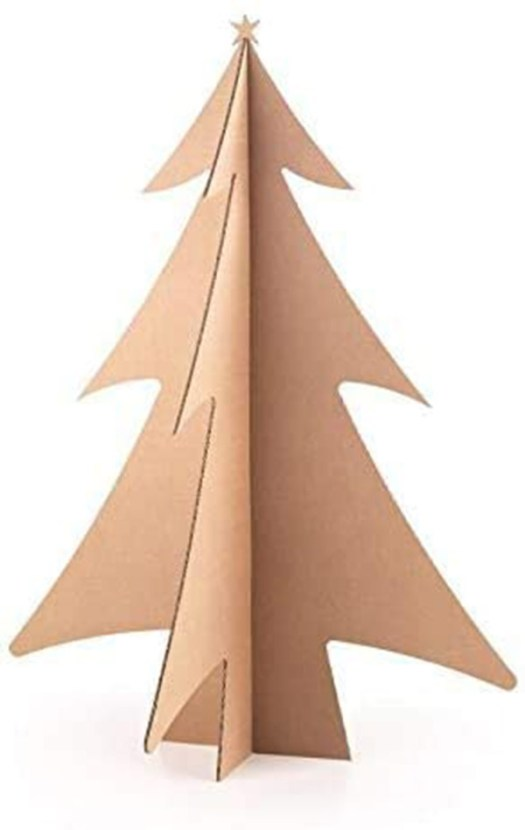 Pequeño árbol de navidad de cartón plegable