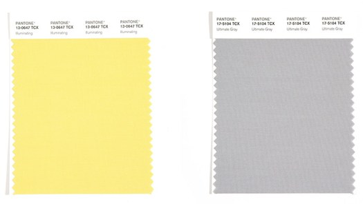 Colores del año 2021 Pantone Ultimate Grey y Illuminate Amarillo