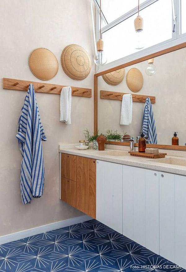 Feng Shui banyosu için renkler: Toprak tonları