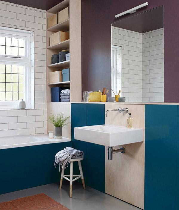 Feng Shui banyosu için renkler: Mor
