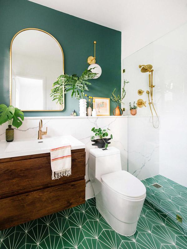 Feng Shui banyosu için renkler: Yeşil