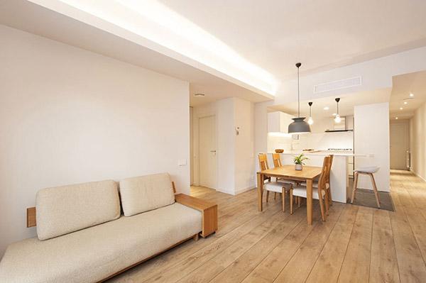 Oturma odası için Feng Shui renkleri: Sıcak beyaz